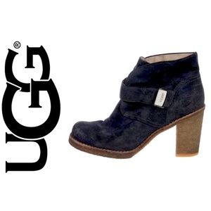 Comfy UGG Brienne distressed suede ankle boots